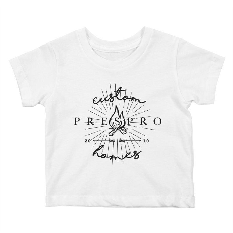 FIRE-BLACK INK Kids Baby T-Shirt by PRESPRO CUSTOM HOMES