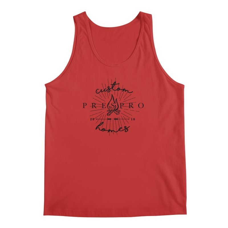 FIRE-BLACK INK Men's Tank by PRESPRO CUSTOM HOMES