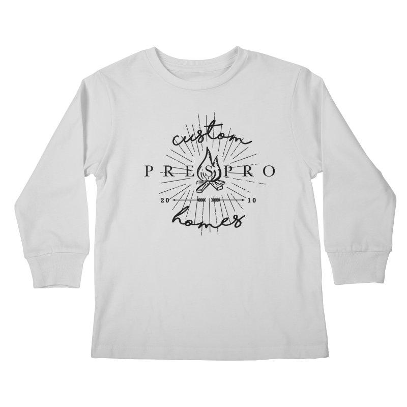 FIRE-BLACK INK Kids Longsleeve T-Shirt by PRESPRO CUSTOM HOMES