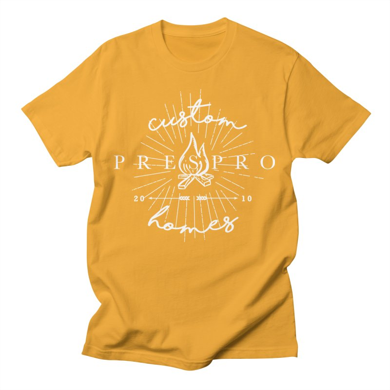 FIRE-WHITE INK Men's T-Shirt by PRESPRO CUSTOM HOMES
