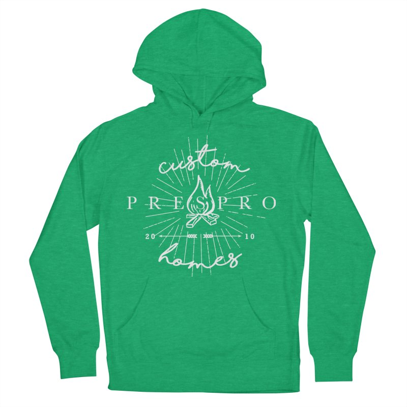 FIRE-WHITE INK Men's Pullover Hoody by PRESPRO CUSTOM HOMES