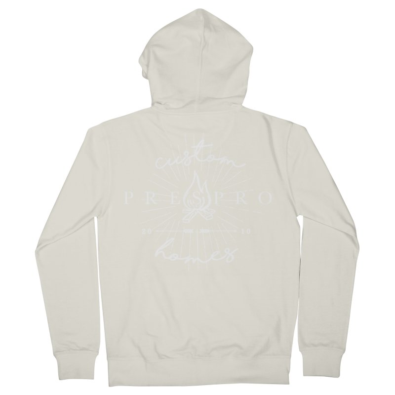 FIRE-WHITE INK Women's French Terry Zip-Up Hoody by PRESPRO CUSTOM HOMES
