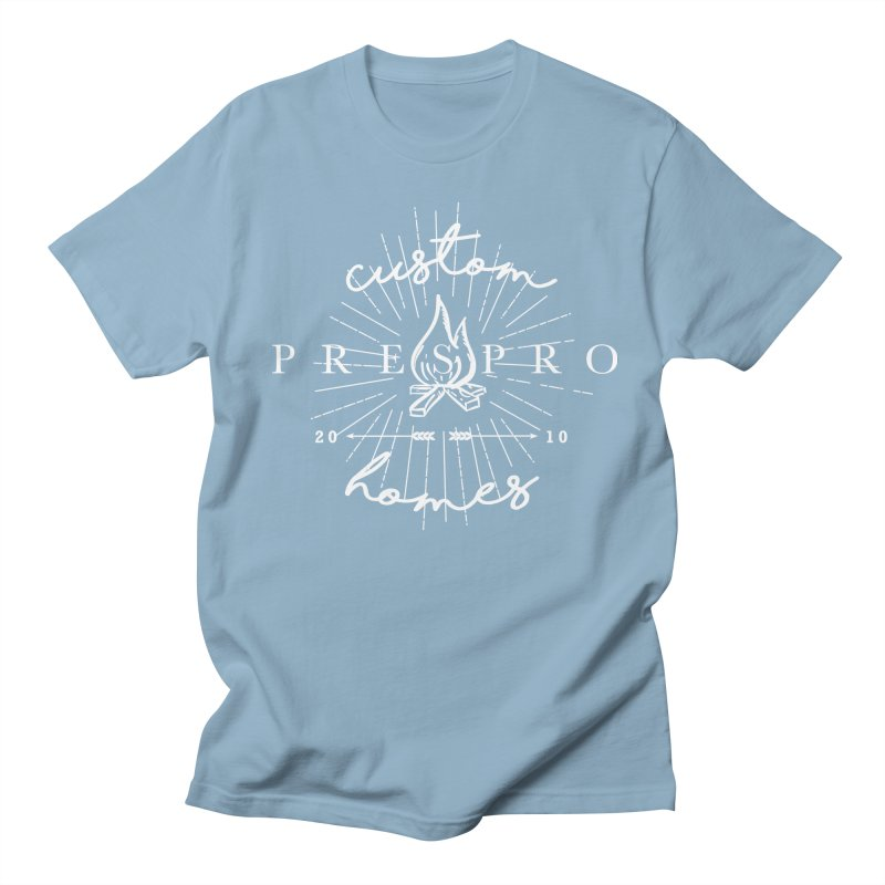 FIRE-WHITE INK Men's Regular T-Shirt by PRESPRO CUSTOM HOMES