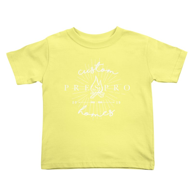 FIRE-WHITE INK Kids Toddler T-Shirt by PRESPRO CUSTOM HOMES