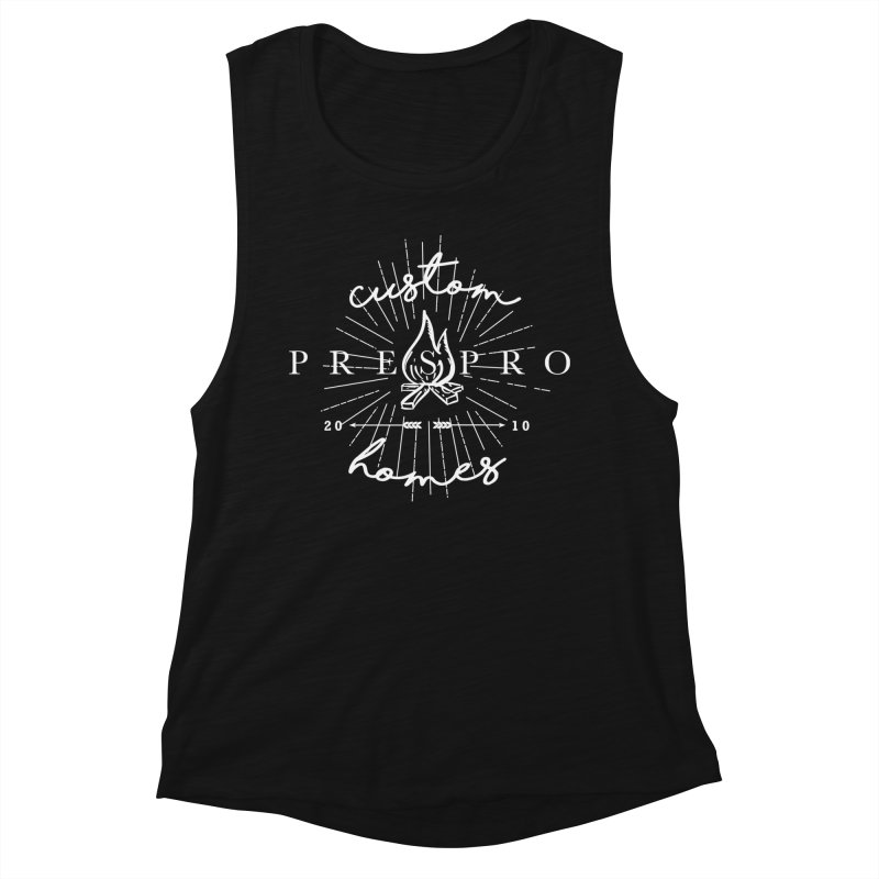 FIRE-WHITE INK Women's Tank by PRESPRO CUSTOM HOMES