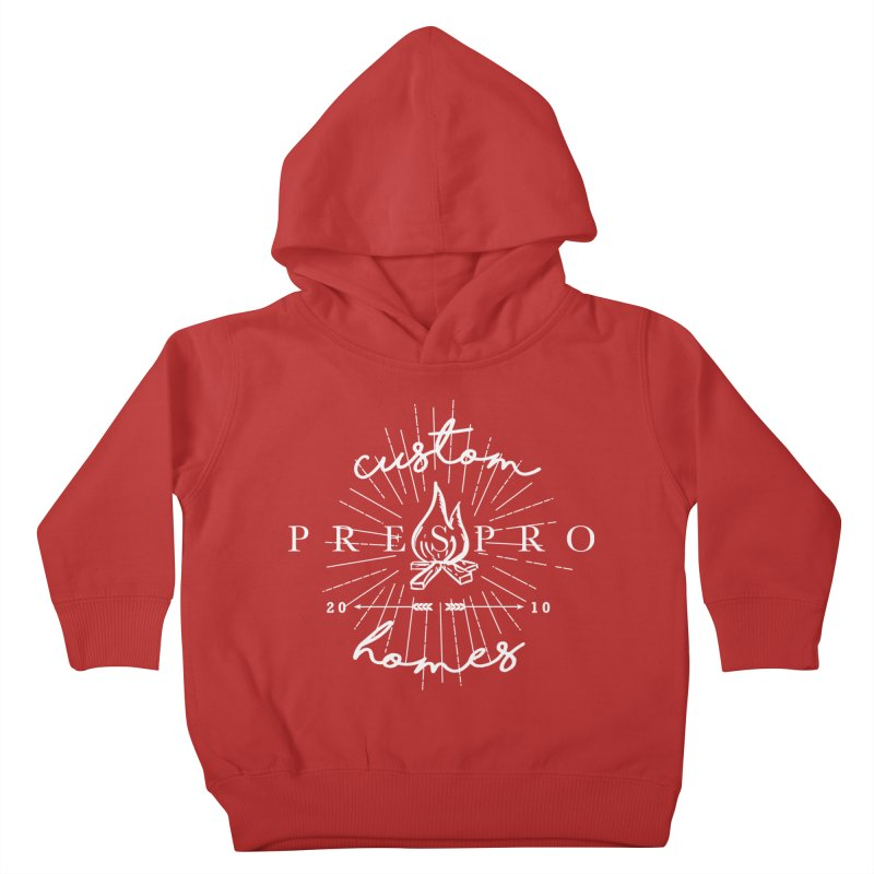 FIRE-WHITE INK Kids Toddler Pullover Hoody by PRESPRO CUSTOM HOMES