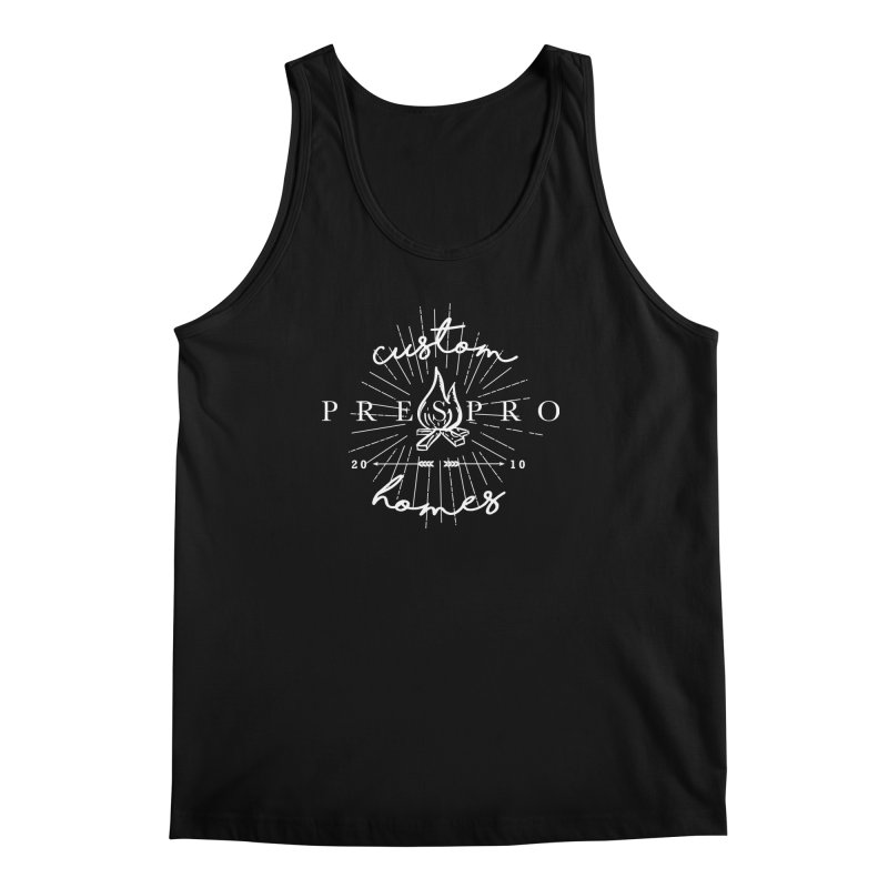 FIRE-WHITE INK Men's Tank by PRESPRO CUSTOM HOMES
