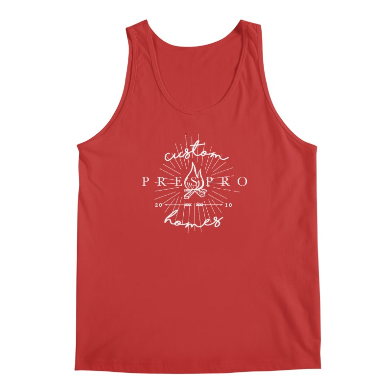 FIRE-WHITE INK Men's Regular Tank by PRESPRO CUSTOM HOMES