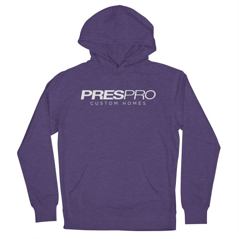 BRAND-WHITE INK Men's French Terry Pullover Hoody by PRESPRO CUSTOM HOMES