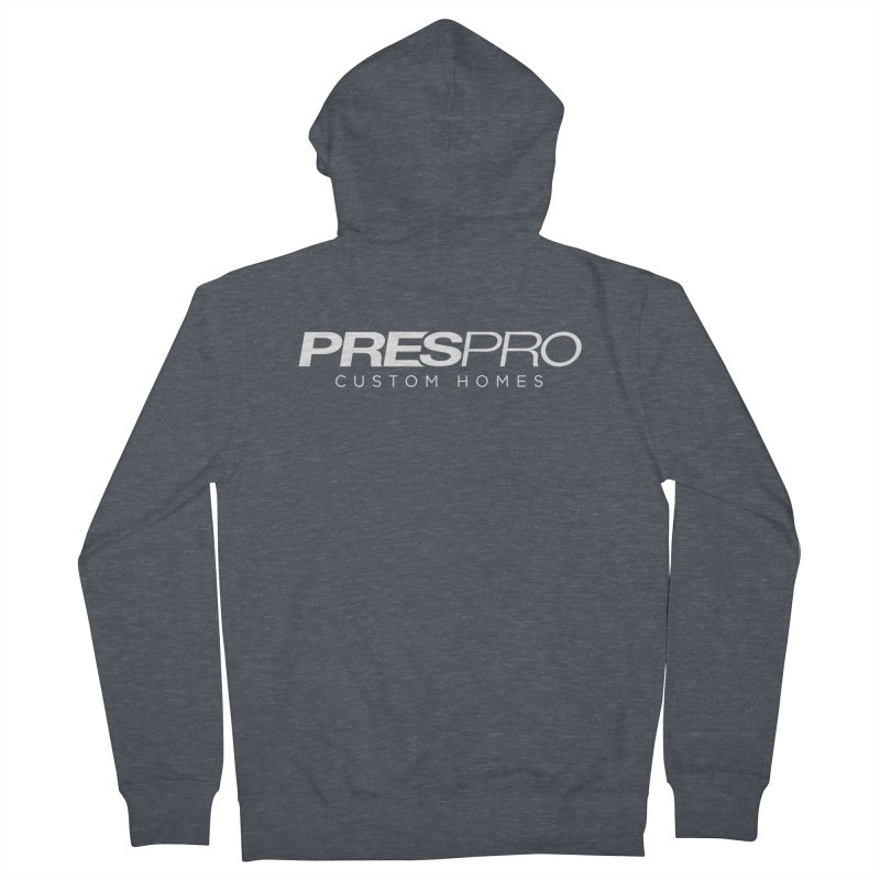 BRAND-WHITE INK Women's French Terry Zip-Up Hoody by PRESPRO CUSTOM HOMES