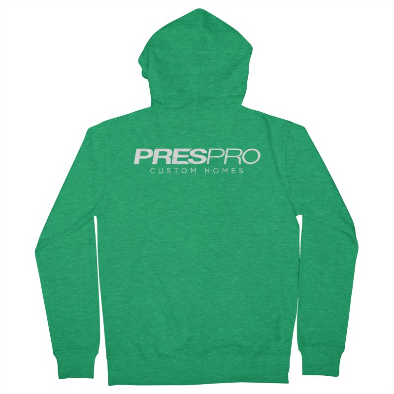 BRAND-WHITE INK Men's French Terry Zip-Up Hoody by PRESPRO CUSTOM HOMES