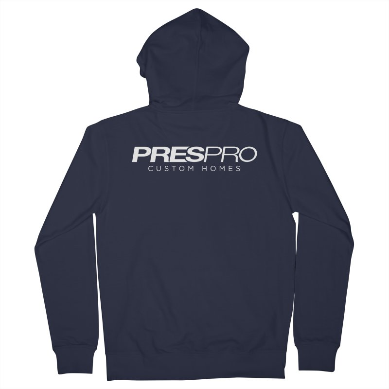 BRAND-WHITE INK Men's Zip-Up Hoody by PRESPRO CUSTOM HOMES