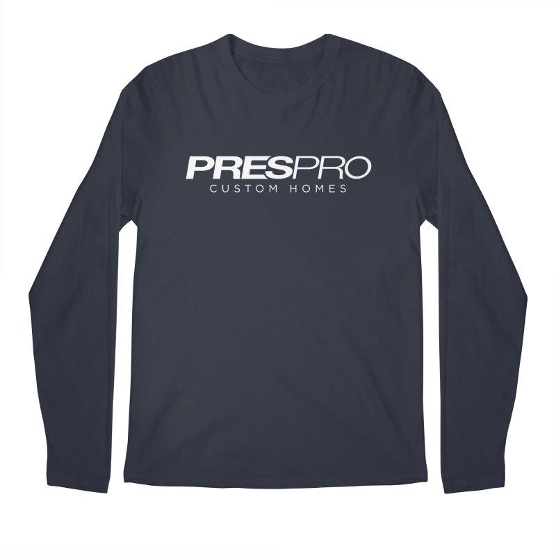 BRAND-WHITE INK Men's Longsleeve T-Shirt by PRESPRO CUSTOM HOMES