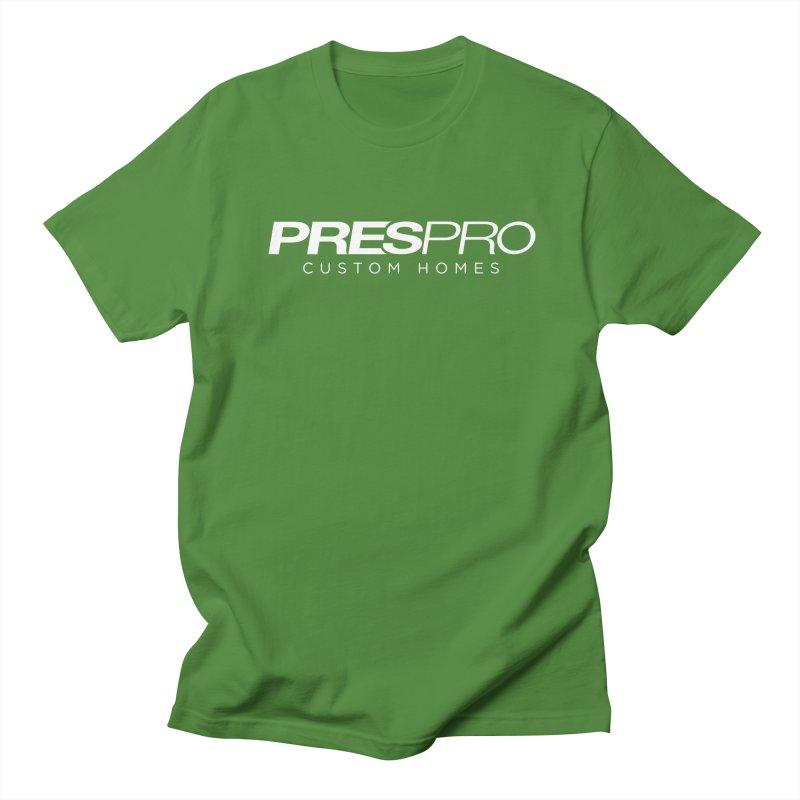 BRAND-WHITE INK Men's T-Shirt by PRESPRO CUSTOM HOMES