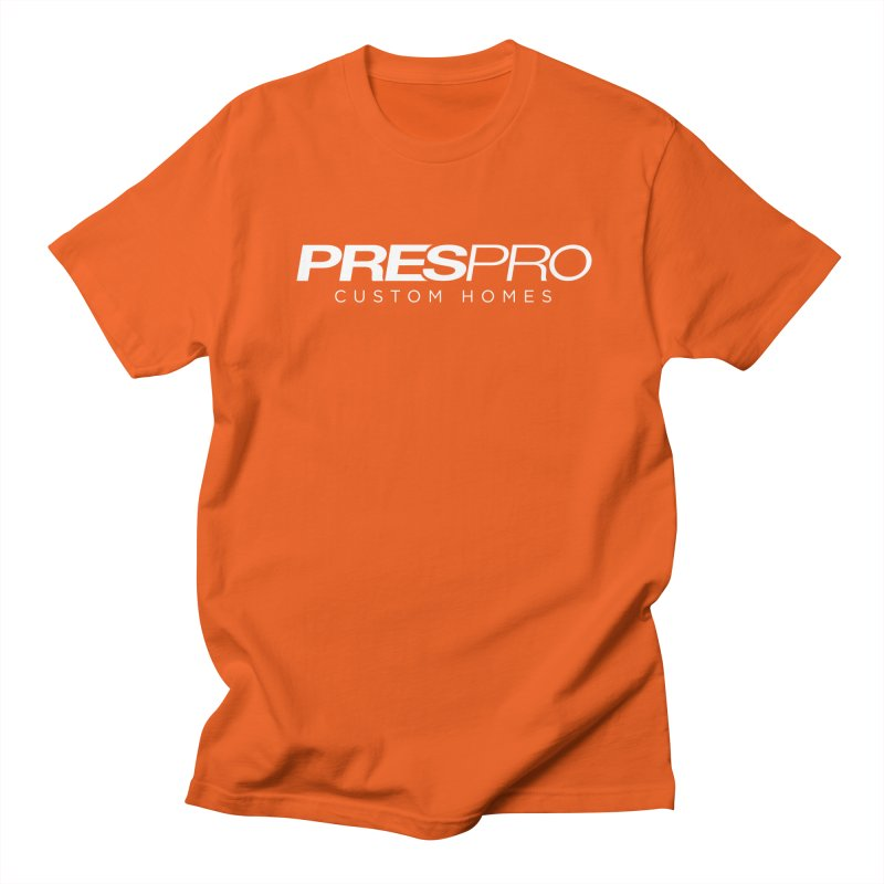 BRAND-WHITE INK Men's Regular T-Shirt by PRESPRO CUSTOM HOMES