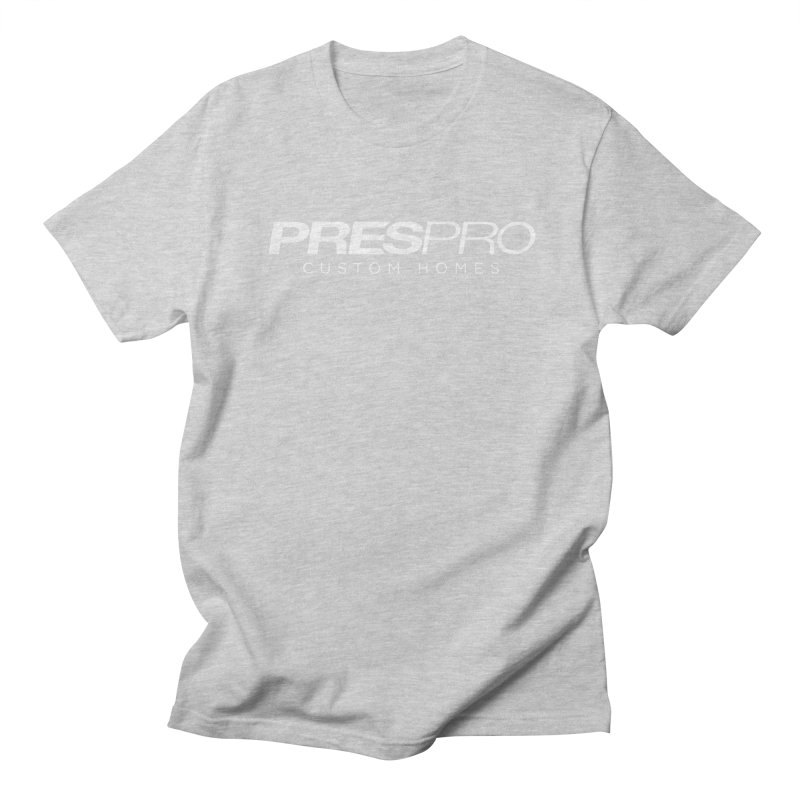 BRAND-WHITE INK Men's Regular T-Shirt by PRESPRO CUSTOM HOMES