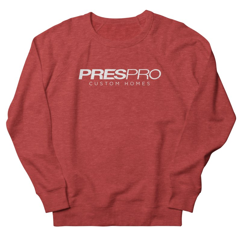 BRAND-WHITE INK Women's French Terry Sweatshirt by PRESPRO CUSTOM HOMES