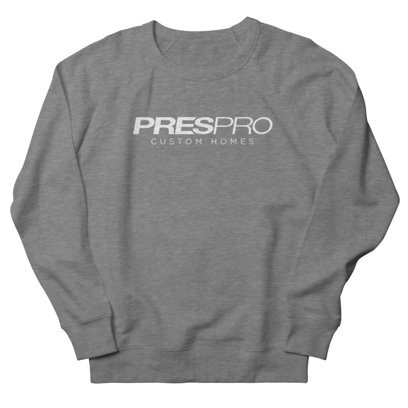 BRAND-WHITE INK Men's French Terry Sweatshirt by PRESPRO CUSTOM HOMES