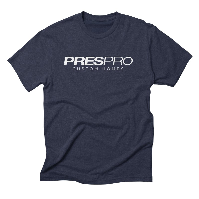 BRAND-WHITE INK Men's Triblend T-Shirt by PRESPRO CUSTOM HOMES