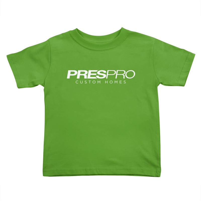 BRAND-WHITE INK Kids Toddler T-Shirt by PRESPRO CUSTOM HOMES
