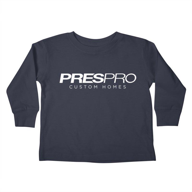 BRAND-WHITE INK Kids Toddler Longsleeve T-Shirt by PRESPRO CUSTOM HOMES