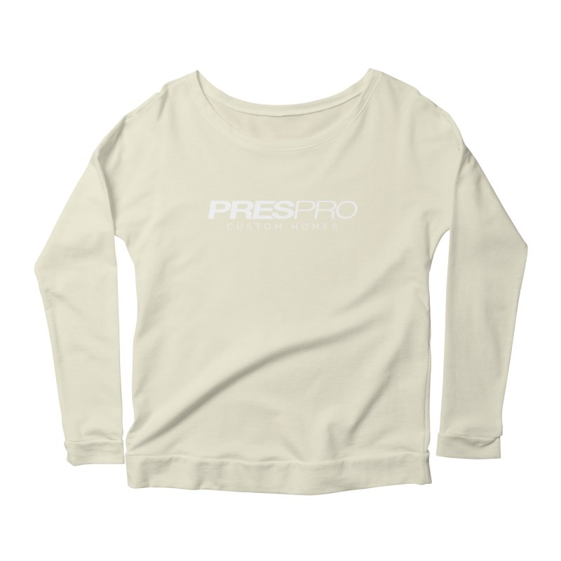 BRAND-WHITE INK Women's Scoop Neck Longsleeve T-Shirt by PRESPRO CUSTOM HOMES