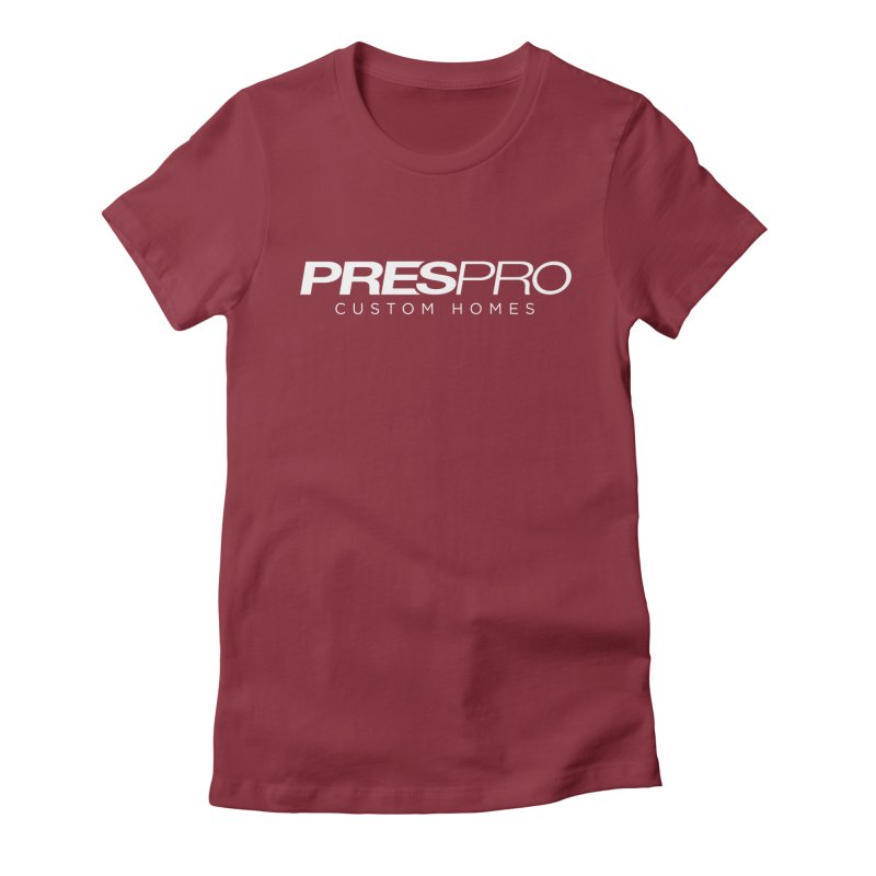 BRAND-WHITE INK Women's Fitted T-Shirt by PRESPRO CUSTOM HOMES