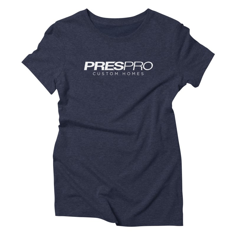 BRAND-WHITE INK Women's Triblend T-shirt by PRESPRO CUSTOM HOMES