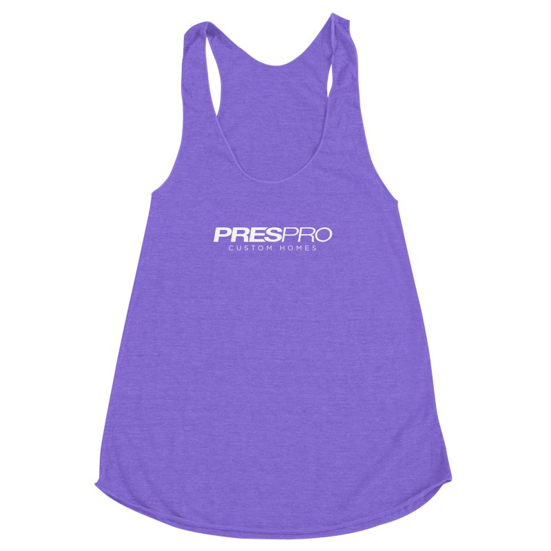 BRAND-WHITE INK Women's Racerback Triblend Tank by PRESPRO CUSTOM HOMES