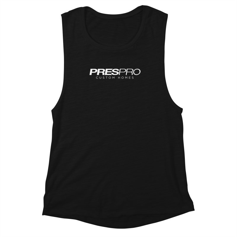 BRAND-WHITE INK Women's Muscle Tank by PRESPRO CUSTOM HOMES