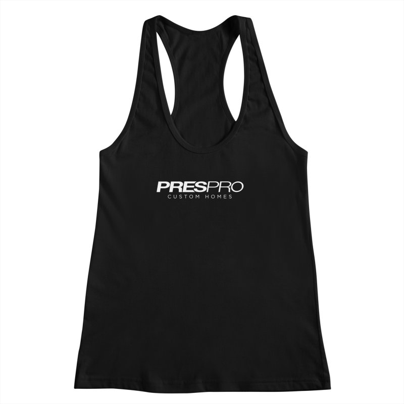 BRAND-WHITE INK Women's Racerback Tank by PRESPRO CUSTOM HOMES