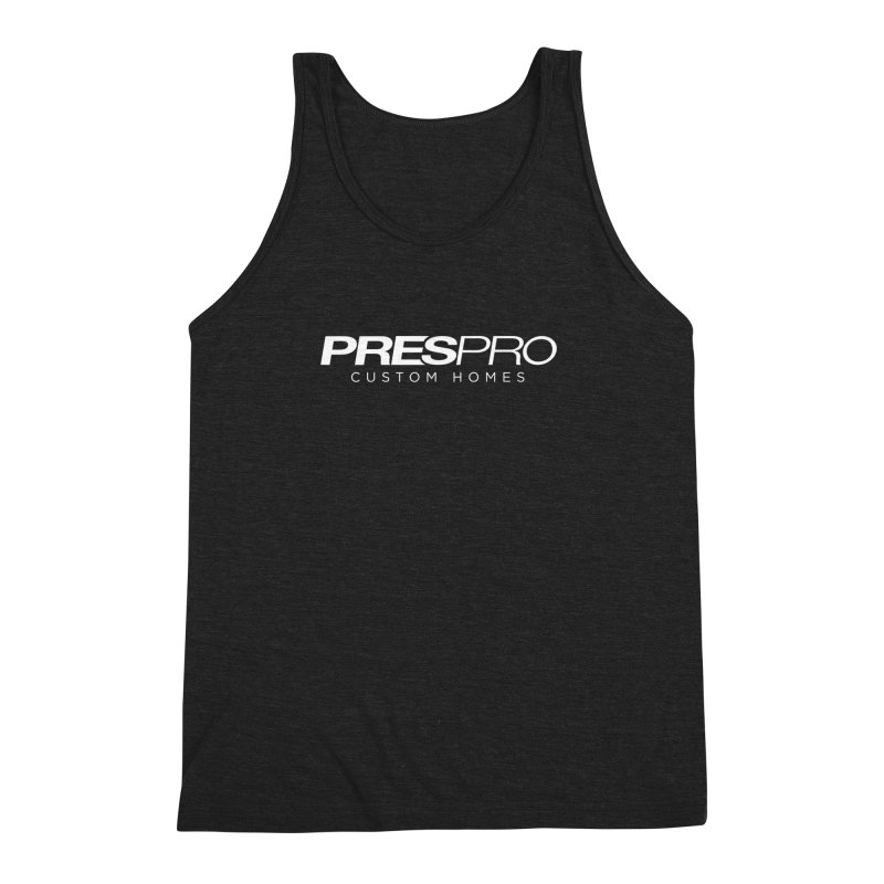 BRAND-WHITE INK Men's Triblend Tank by PRESPRO CUSTOM HOMES