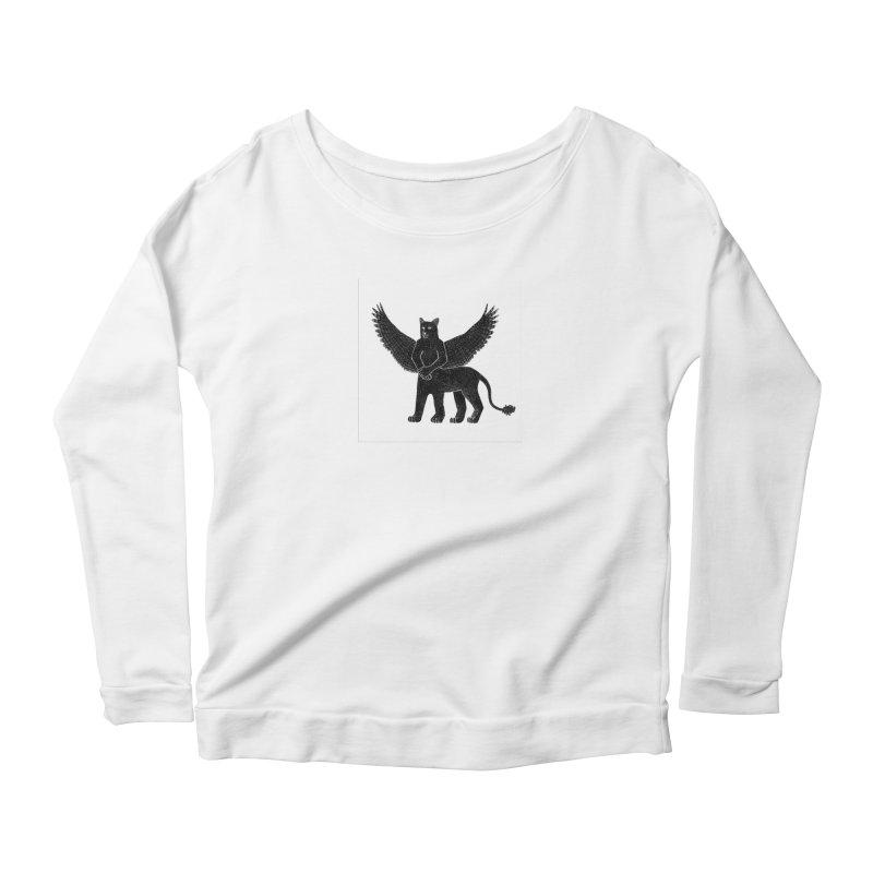 Preston Creature Women's Scoop Neck Longsleeve T-Shirt by preston's Artist Shop
