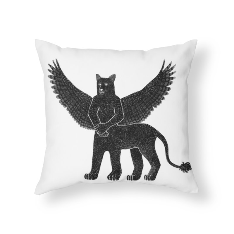 Preston Creature Home Throw Pillow by preston's Artist Shop