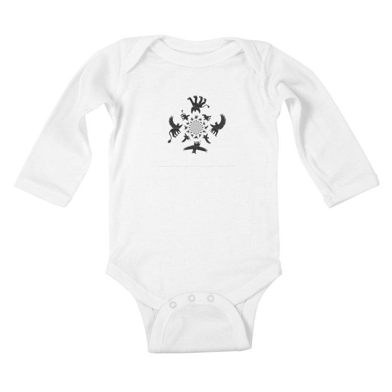 Preston Creature Inversion Kids Baby Longsleeve Bodysuit by preston's Artist Shop