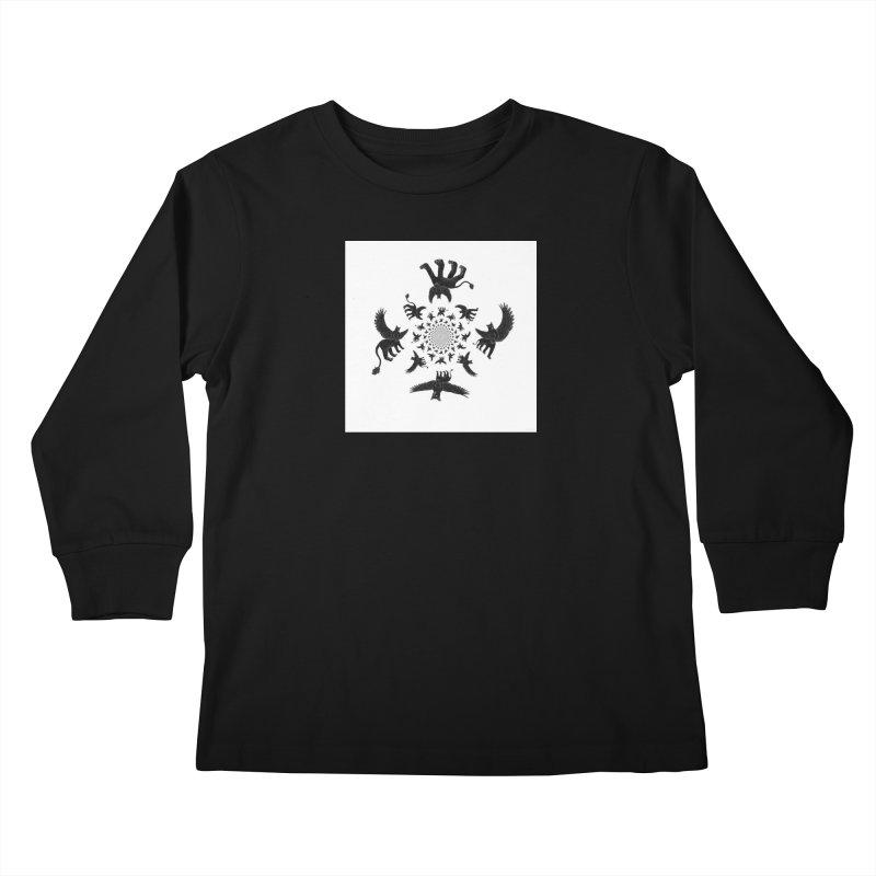 Preston Creature Inversion Kids Longsleeve T-Shirt by preston's Artist Shop