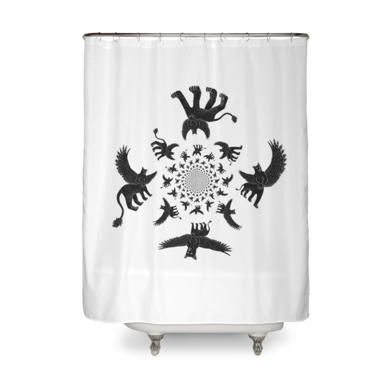 Preston Creature Inversion Home Shower Curtain by preston's Artist Shop