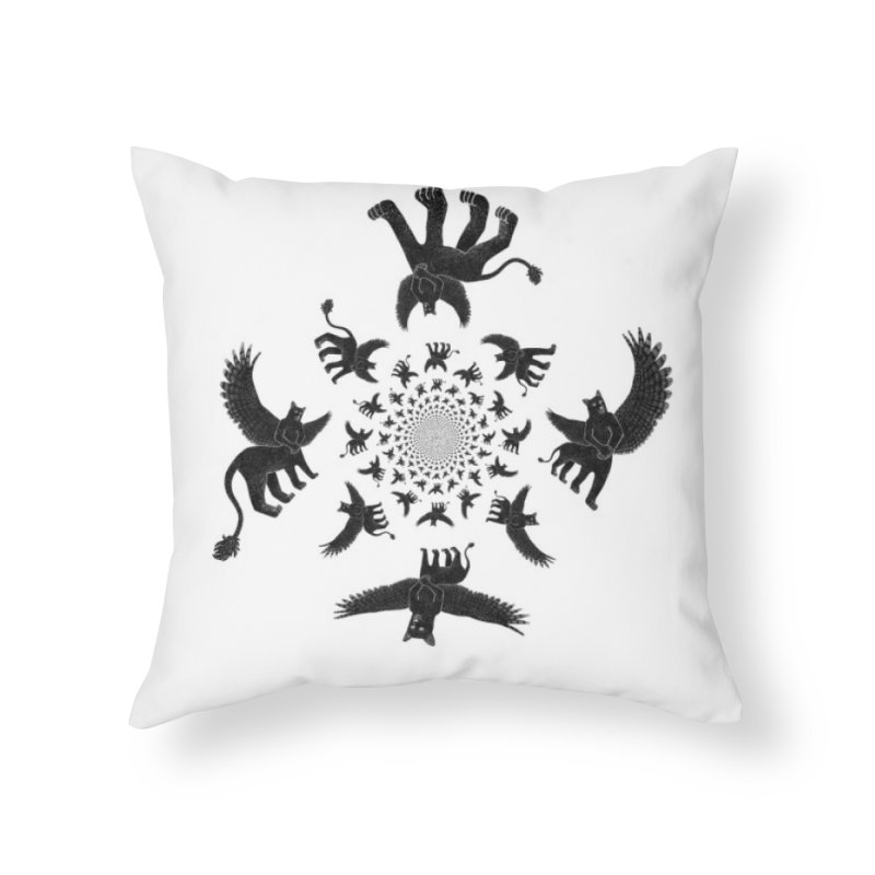 Preston Creature Inversion Home Throw Pillow by preston's Artist Shop