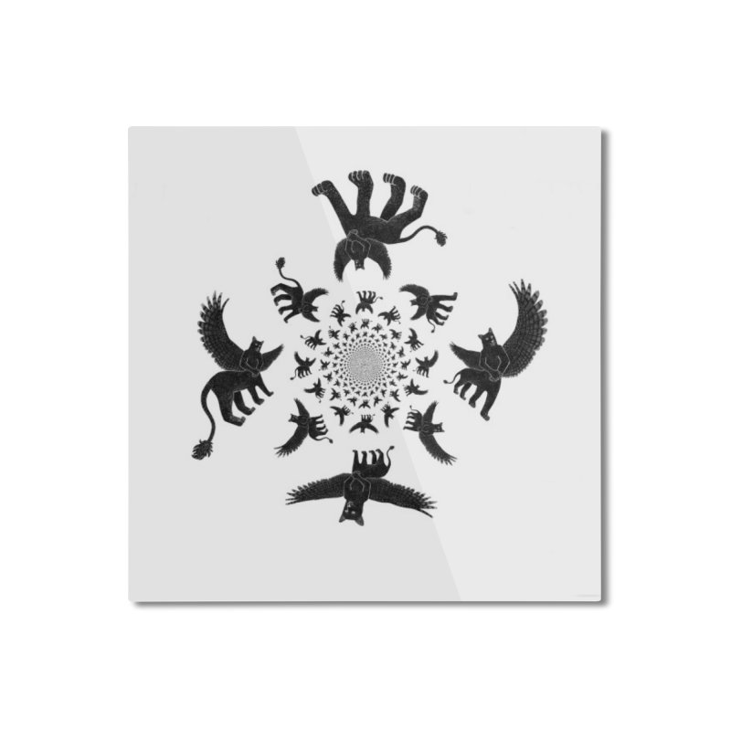 Preston Creature Inversion Home Mounted Aluminum Print by preston's Artist Shop