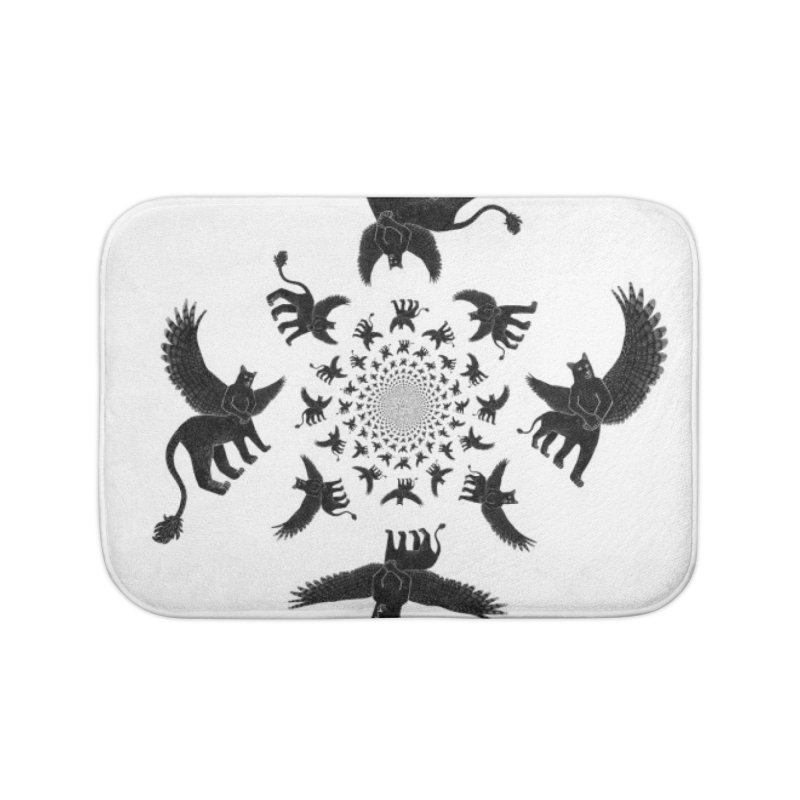 Preston Creature Inversion Home Bath Mat by preston's Artist Shop