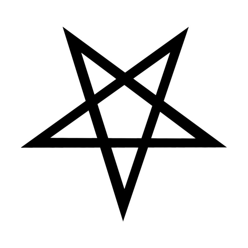 Pentagram (black) Accessories Bag by Pretty Hate Machining's Artist Shop