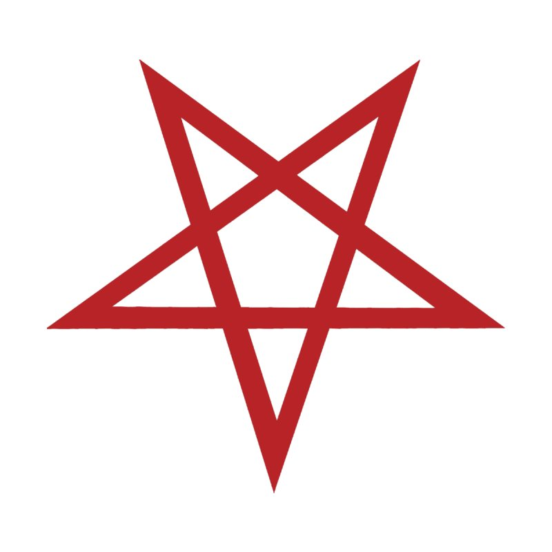 Pentagram (blood red) Home Fine Art Print by Pretty Hate Machining's Artist Shop