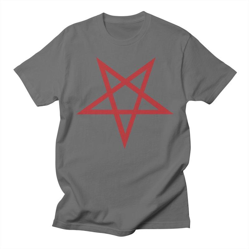 Pentagram (blood red) Men's T-Shirt by Pretty Hate Machining's Artist Shop