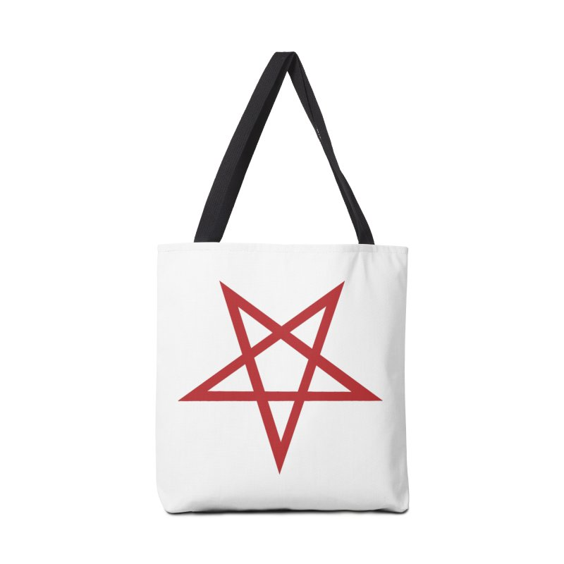Pentagram (blood red) Accessories Bag by Pretty Hate Machining's Artist Shop