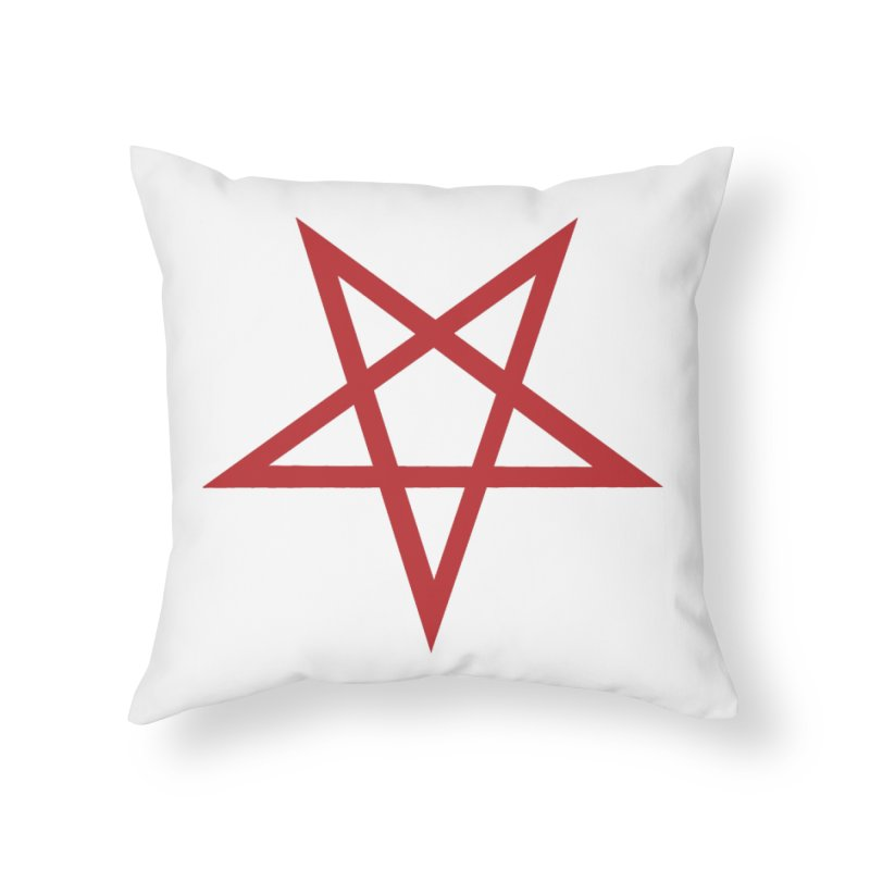 Pentagram (blood red) Home Throw Pillow by Pretty Hate Machining's Artist Shop