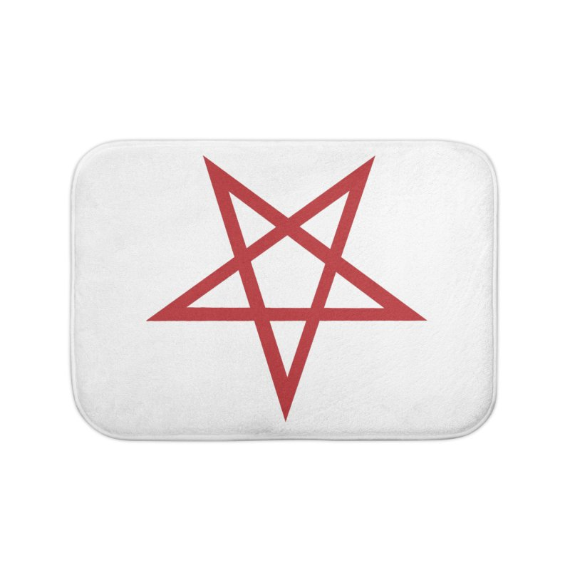 Pentagram (blood red) Home Bath Mat by Pretty Hate Machining's Artist Shop