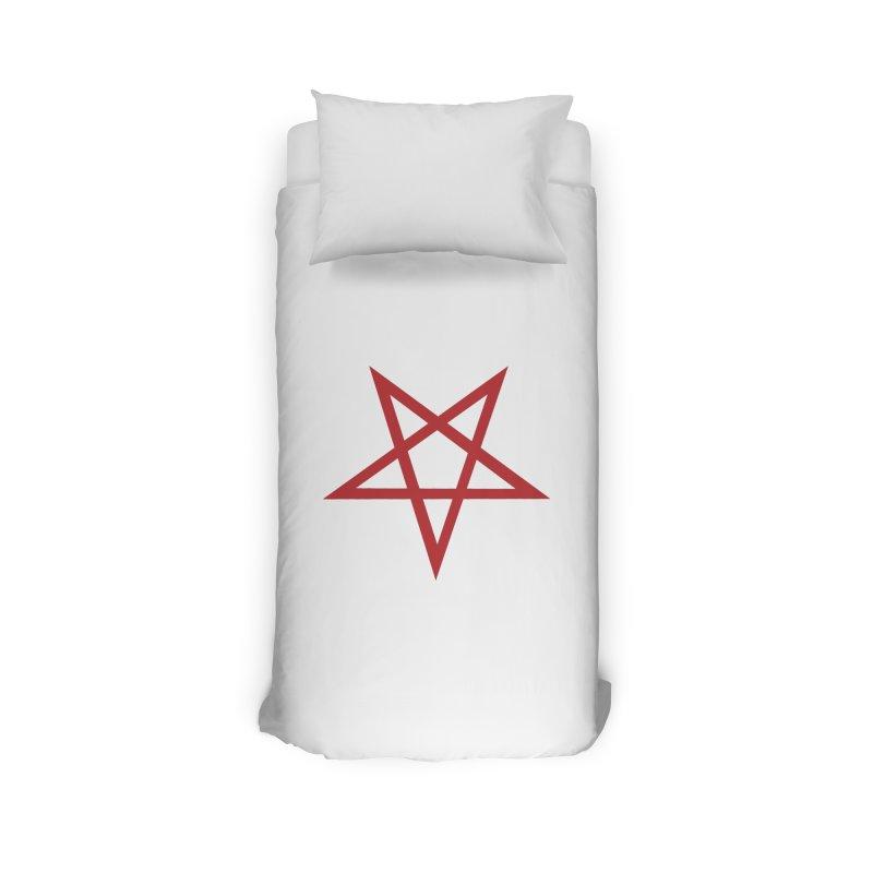 Pentagram (blood red) Home Duvet by Pretty Hate Machining's Artist Shop