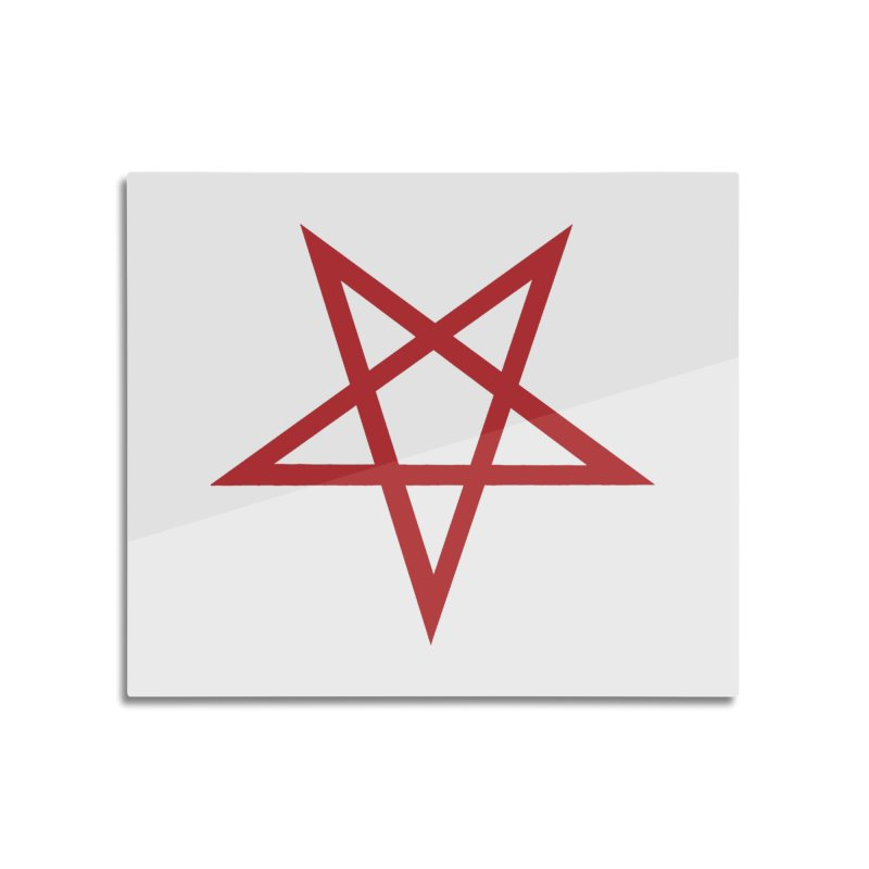 Pentagram (blood red) Home Mounted Aluminum Print by Pretty Hate Machining's Artist Shop