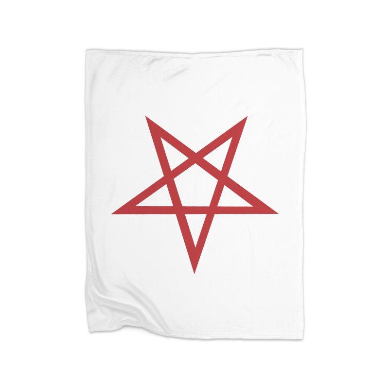 Pentagram (blood red) Home Blanket by Pretty Hate Machining's Artist Shop