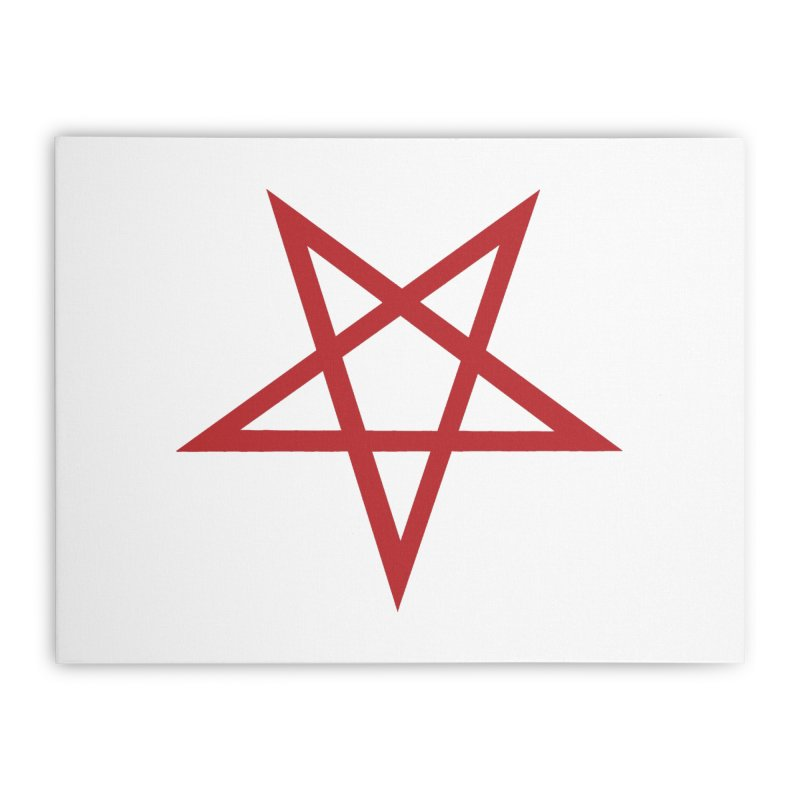 Pentagram (blood red) Home Stretched Canvas by Pretty Hate Machining's Artist Shop